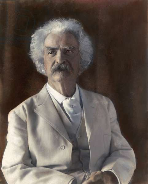 SAMUEL LANGHORNE CLEMENS (1835-1910). Pseudonym Mark Twain. American humorist and writer. Photographed in 1906 by Frances Benjamin Johnston.