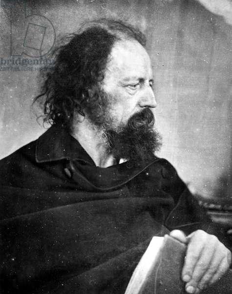Alfred, Lord Tennyson (1809-1892) 1st Baron Tennyson, English poet, May 1865.