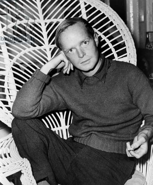 TRUMAN CAPOTE (1924-1984) American writer. Photograph by Roger Higgins, 1959.