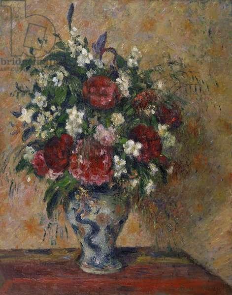 PISSARRO: STILL LIFE, C1874 'Still Life with Peonies and Mock Orange.' Camille Pissarro, C1874.