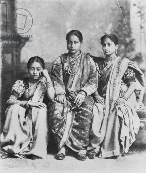 INDIA: 'HINDOO LADIES.' Photographed c.1900.