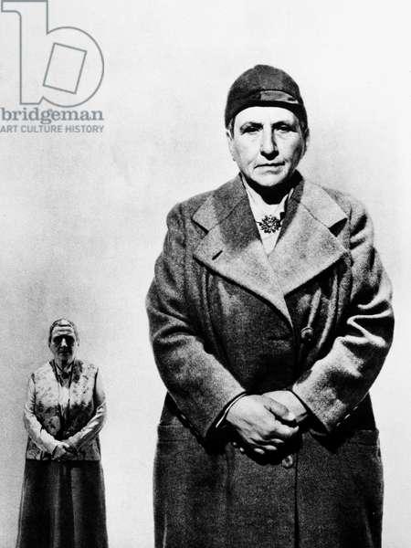 GERTRUDE STEIN (1874-1946) American writer. Undated photograph.