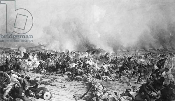 CIVIL WAR: GETTYSBURG The Battle of Gettysburg, 1-3 July 1863. Engraving by John Sartain after Peter Frederick Rothermel.