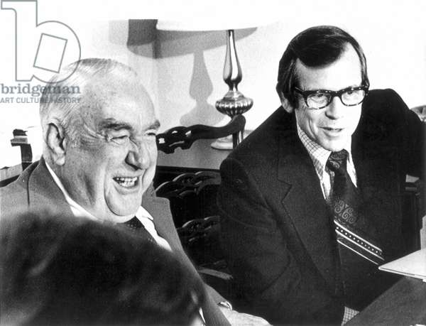 SAMUEL ERVIN (1896-1985) American politician. As Chairman of the Senate Watergate Committee, with committee member Howard Baker of Tennessee (right), 23 January 1974.