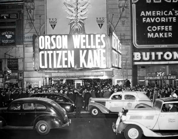 NEW YORK: RKO PALACE, 1941 The world premiere of 'Citizen Kane' at the RKO Palace, Broadway, New York City, 1941.