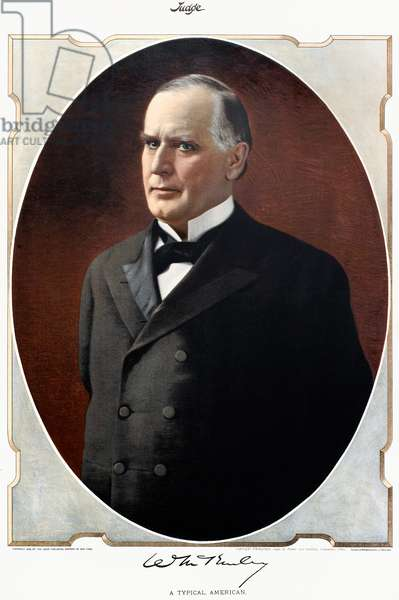 WILLIAM McKINLEY (1843-1901). 25th President of the United States. Lithograph, 1896.