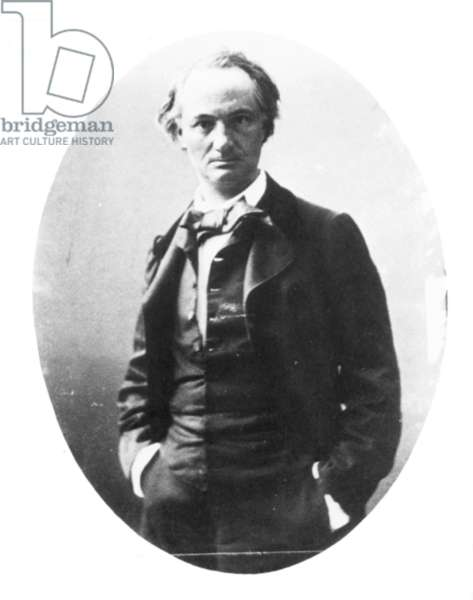 CHARLES BAUDELAIRE (1821-1867). French poet. Photographed by Nadar, c.1860.