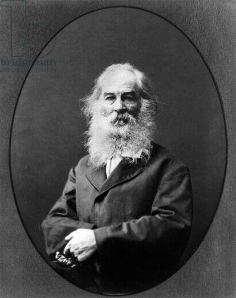 WALT WHITMAN (1819-1892) American poet. Photograph, c.1875.