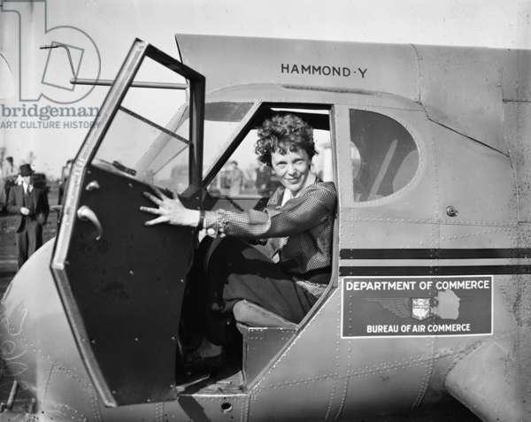AMELIA EARHART (1897-1937) American aviator. Photograph, 1936.