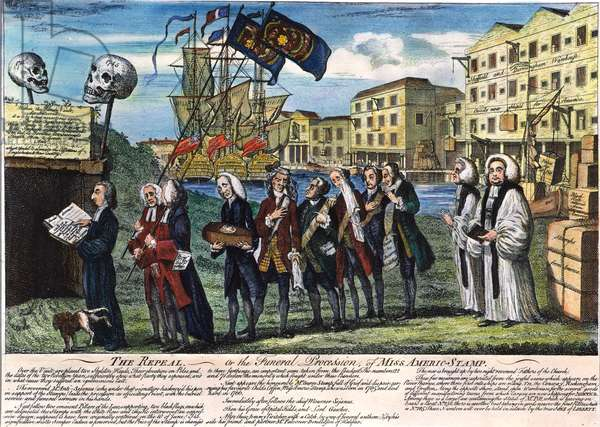 STAMP ACT: REPEAL, 1766 The repeal of the Stamp Act. English cartoon engraving, 1766.