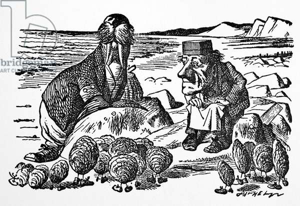 CARROLL: LOOKING GLASS The Walrus, the Carpenter, and the Oysters. Illustration by Sir John Tenniel to the first edition of Lewis Carroll's 'Through the Looking Glass,' 1872.