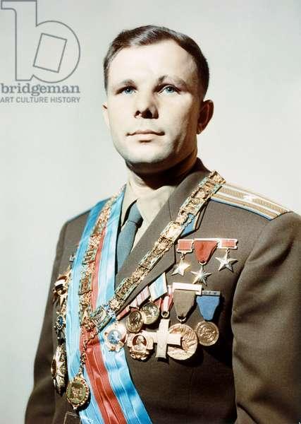 YURI GAGARIN (1934-1968) Soviet cosmonaut. Photograph, c.1960.