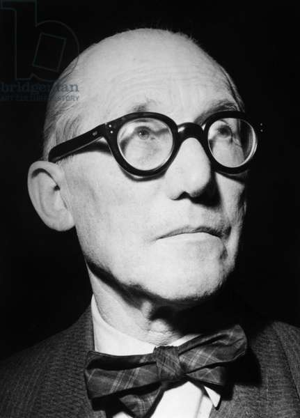 LE CORBUSIER (1887-1965) Assumed name of Charles-Édouard Jeanneret-Gris. Swiss architect and city planner. Photograph, c.1955.