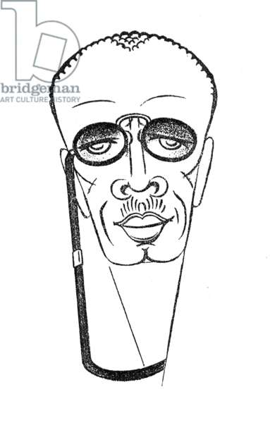 JAMES W. JOHNSON (1871-1938) American writer. Caricature, 1929, by Eva Herrmann.