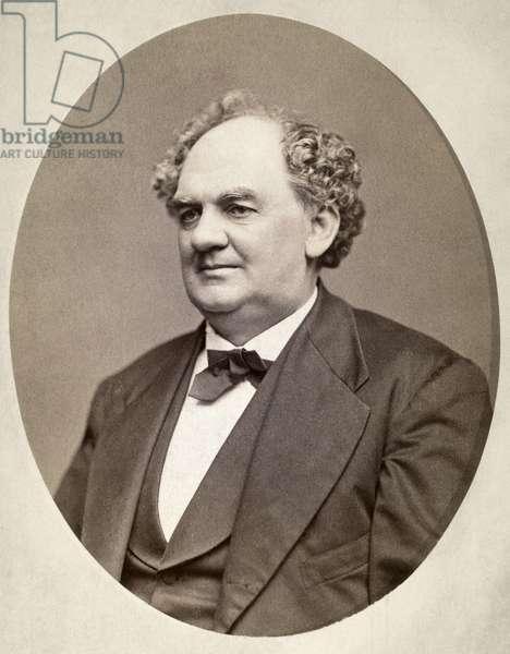 P.T. BARNUM (1810-1891) Phineas Taylor Barnum. American showman. Original cabinet photograph.