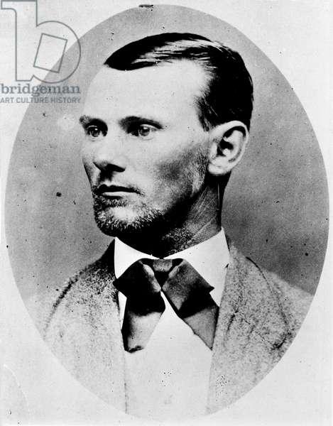 JESSE JAMES (1847-1882) Jesse Woodson James. American desperado. Photograph, late 19th century.