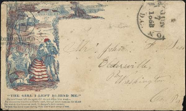 CIVIL WAR: LETTER, 1863 A decorative Civil War-era envelope, 1863.