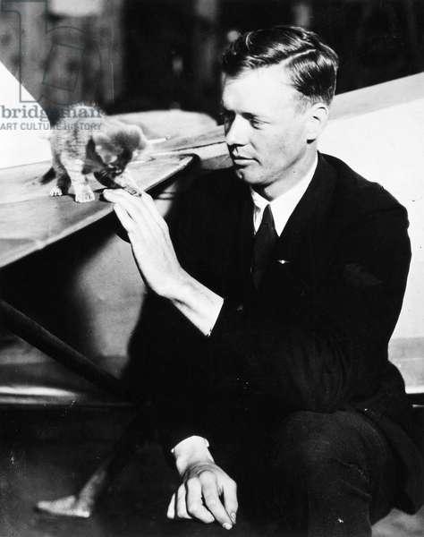 CHARLES A. LINDBERGH (1902-1974). American aviator.