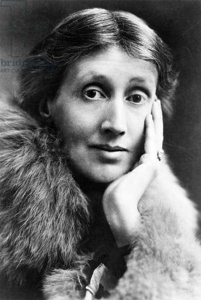 VIRGINIA WOOLF (1882-1941) English writer. Photograph, 1928.