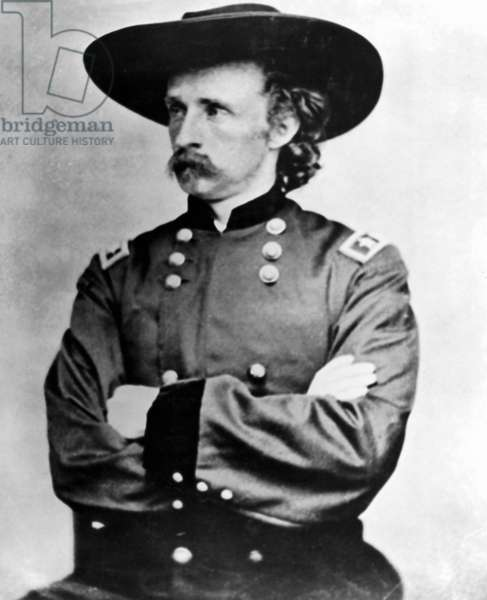 GEORGE CUSTER (1839-1876) American army officer. Photographed in the uniform of a major general.