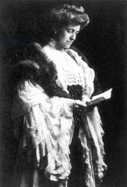 EDITH WHARTON (1862-1937) American writer. Photographed shortly after the completion of her manuscript for 'The House of Mirth' in 1905.