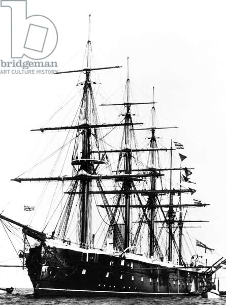 SHIPS: HMS 'AGINCOURT.' HMS 'Agincourt,' launched in 1865 and scrapped in 1961, one of the three five-masters of the mid-Victorian Navy.