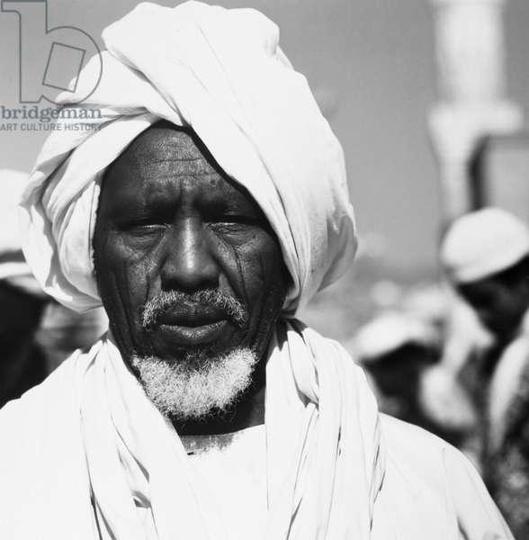 MECCA: PILGRIM, 1970s Pilgrim photographed at Mecca, Saudi Arabia, during the annual hajj, 1970s.
