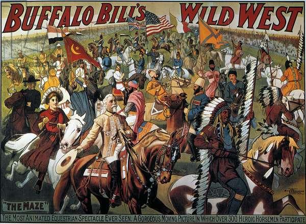 BUFFALO BILL: POSTER, 1908 Buffalo Bill's Wild West Show lithograph poster.