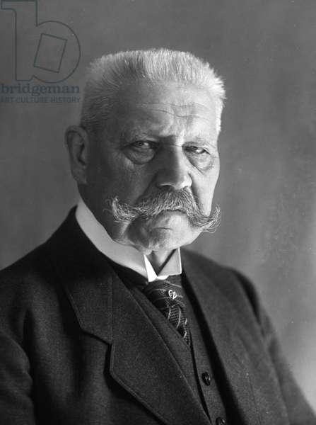 PAUL VON HINDENBURG (1847-1934). German general and president.