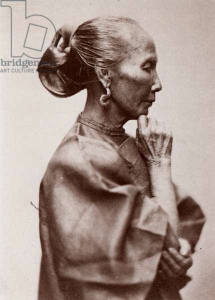 CHINA: WOMAN, 1860s Woman of the Working Class, Canton, China: photographed by John Thomson, 1868-72.