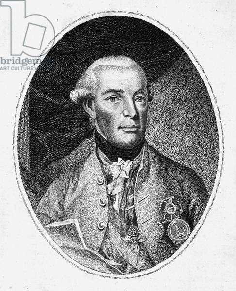 LEOPOLD II (1747-1792) Holy Roman Emperor, 1790-92. Aquatint engraving, late 18th century.