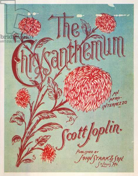 JOPLIN: CHRYSANTHEMUM Lithograph sheet music cover of Scott Joplin's