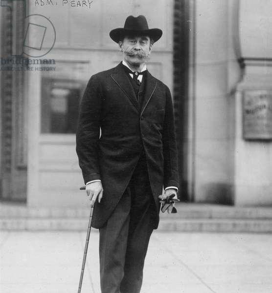 ROBERT PEARY (1856-1920) American Arctic explorer. Photograph, 1919.