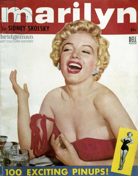 MARILYN MONROE (1926-1962) American cinema actress. 'Marilyn.' 100 pinup photographs of Marilyn Monroe selected by Sydney Skolsky, c.1954.