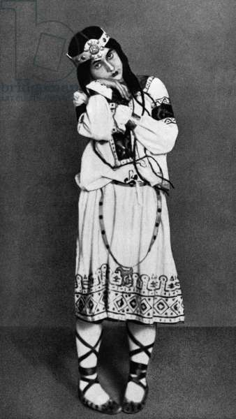 BALLET: RITE OF SPRING A soloist from the first English production of Igor Stravinsky's ballet 'The Rite of Spring,' choreographed by Vaslav Nijinsky, 1913.