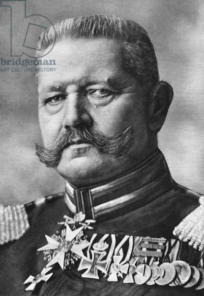 PAUL VON HINDENBURG (1847-1934). German general and president.