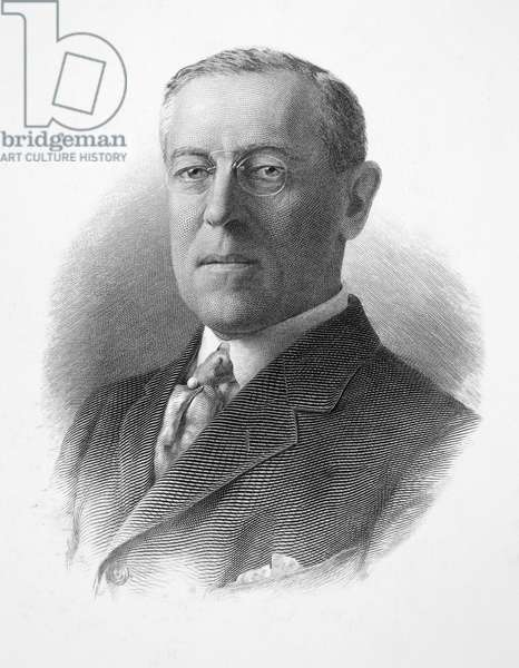 WOODROW WILSON (1856-1924) 28th President of the United States. Steel engraving, early 20th century.