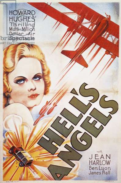 FILM: HELL'S ANGELS, 1930 Jean Harlow on a poster for