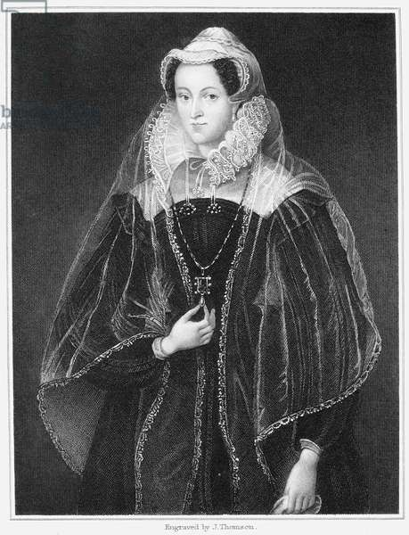 MARY, QUEEN OF SCOTS (1542-1587). Mary Stuart, Queen of Scotland, 1542-1567. Steel engraving, 1829.