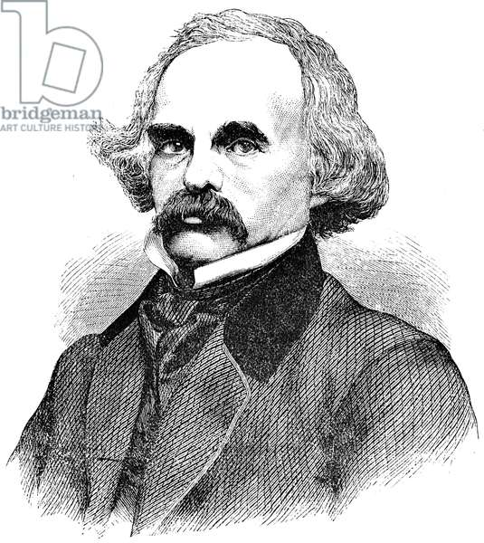 NATHANIEL HAWTHORNE (1804-1864). American writer. Wood engraving, late 19th century.