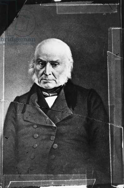 JOHN QUINCY ADAMS (1767-1848). Sixth President of the United States. Daguerreotype, c.1845.