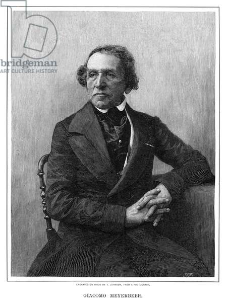 GIACOMO MEYERBEER (1791-1864). German composer. Wood engraving, 1900.