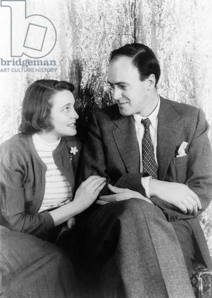 NEAL AND DAHL, 1954 British writer Roald Dahl with his wife, American actress Patricia Neal. Photograph by Carl Van Vechten, 20 April 1954.