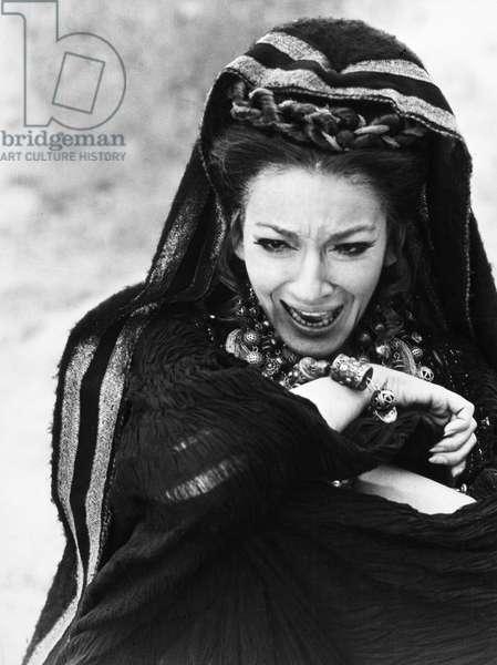 MARIA CALLAS (1923-1977) American operatic soprano. Photographed in the title role of the film 'Medea,' 1969.