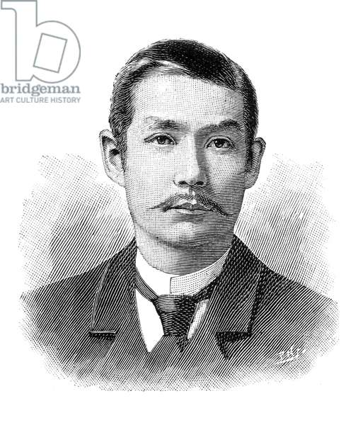 SUN YAT-SEN (1866-1925) Chinese statesman and revolutionary leader. Line engraving, 1896.