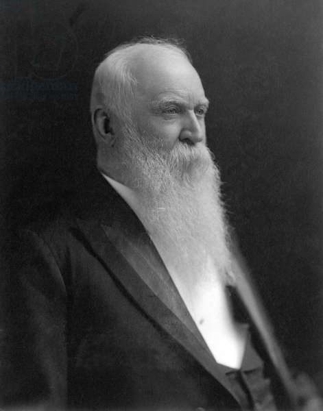 WILLIAM MORRIS STEWART (1827-1909). American lawyer and legislator. Photographed in 1900.