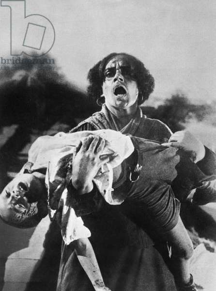 BATTLESHIP POTEMKIN, 1925 A mother carrying her dead son during the massacre on the Odessa Steps in a scene from the Soviet film 'Battleship Potemkin,' directed by Sergei Eisenstein, 1925.