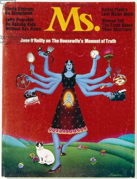 MS. MAGAZINE, 1972 Cover of the first issue of 'Ms.' magazine, spring 1972.