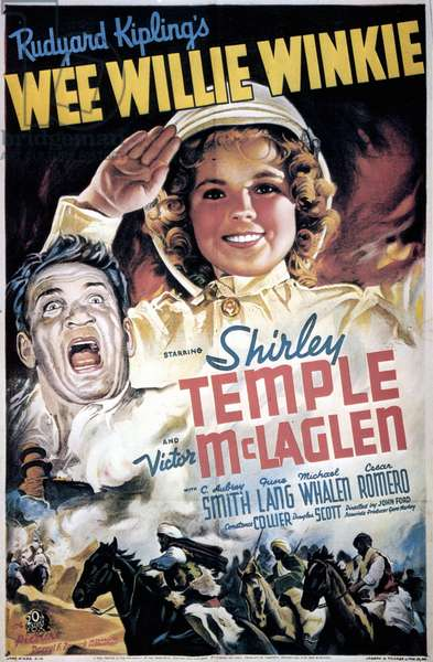 SHIRLEY TEMPLE: POSTER Poster for the 1937 film 'Wee Willie Winkie,' starring Shirley Temple and Victor McLaglen.