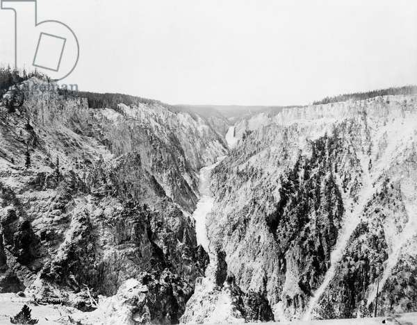 YELLOWSTONE: CANYON, c.1920 A view of the Grand Canyon of the Yellowstone River, Wyoming. Photographed c.1920.